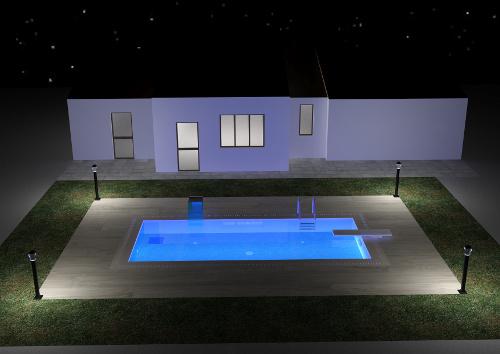 Acqua spa: illuminazione della piscina
