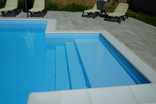 Acqua spa photogallery scale per piscine scale in for Teli per piscine interrate